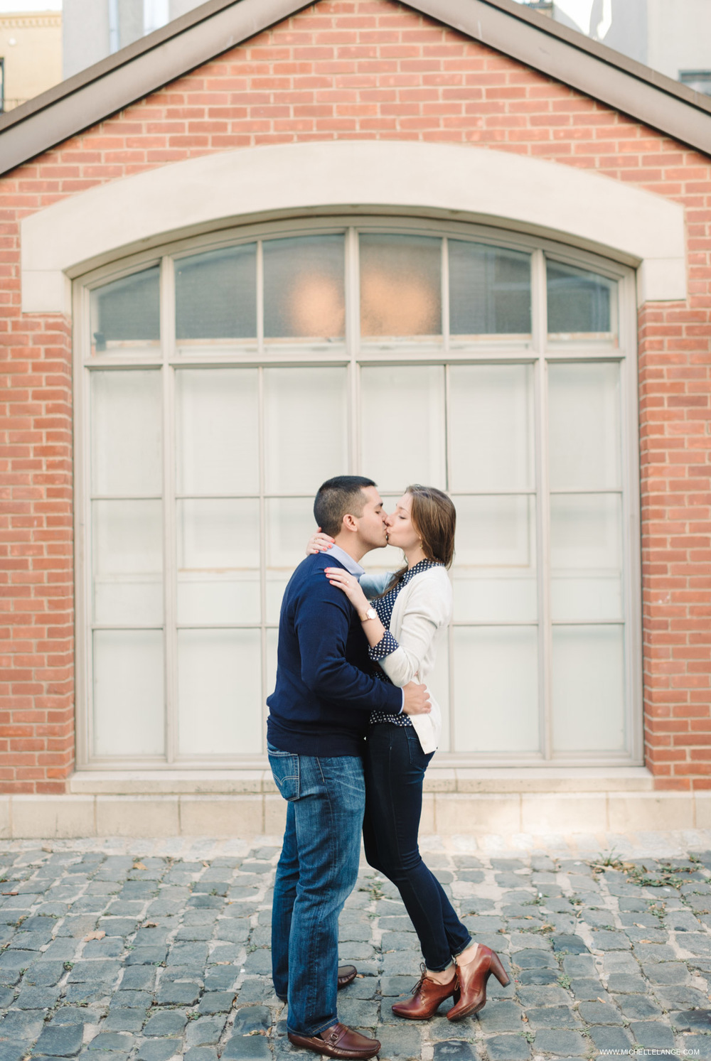 Hoboken Waterfront Fall Engagement