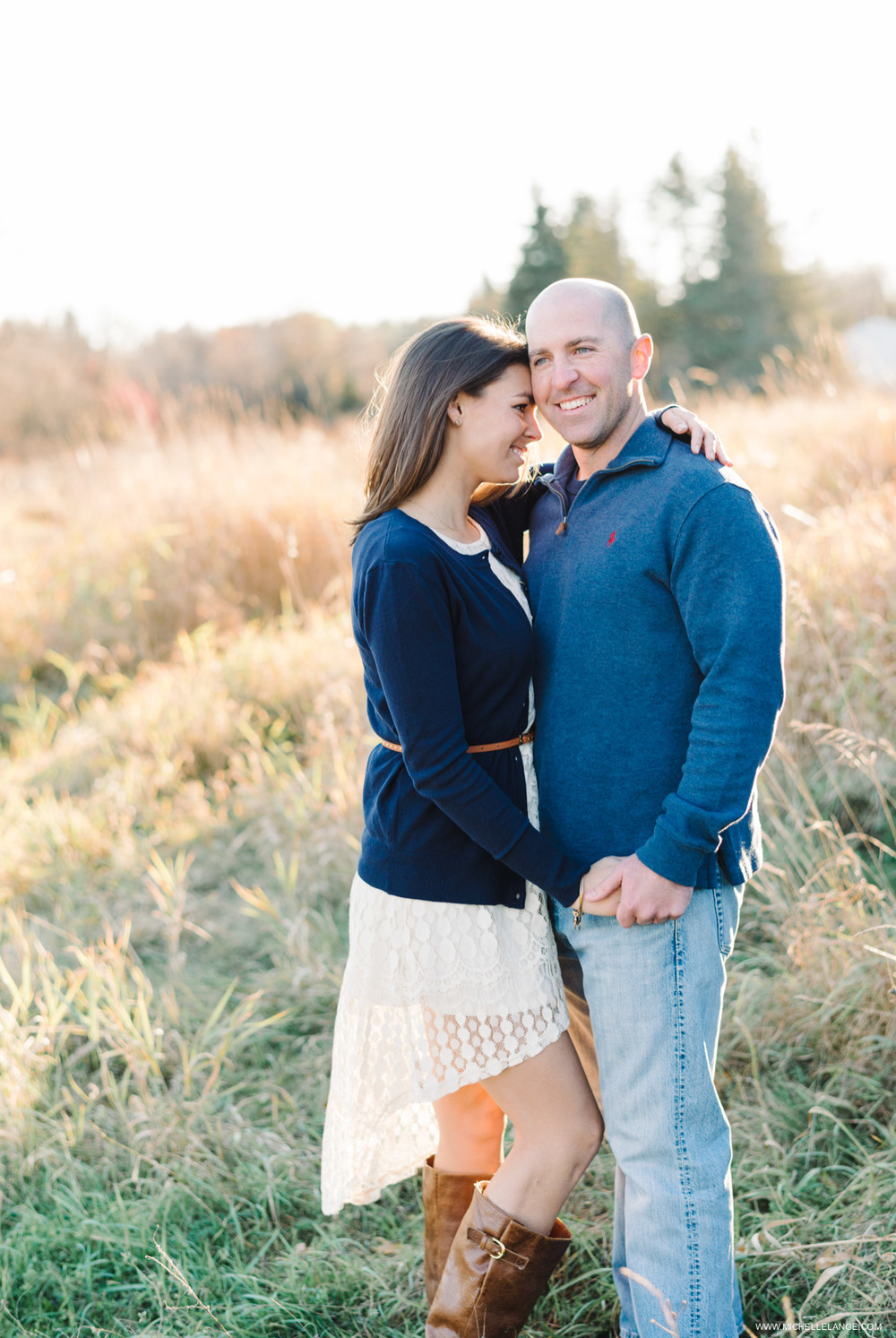 Rustic Fall Engagement in New York