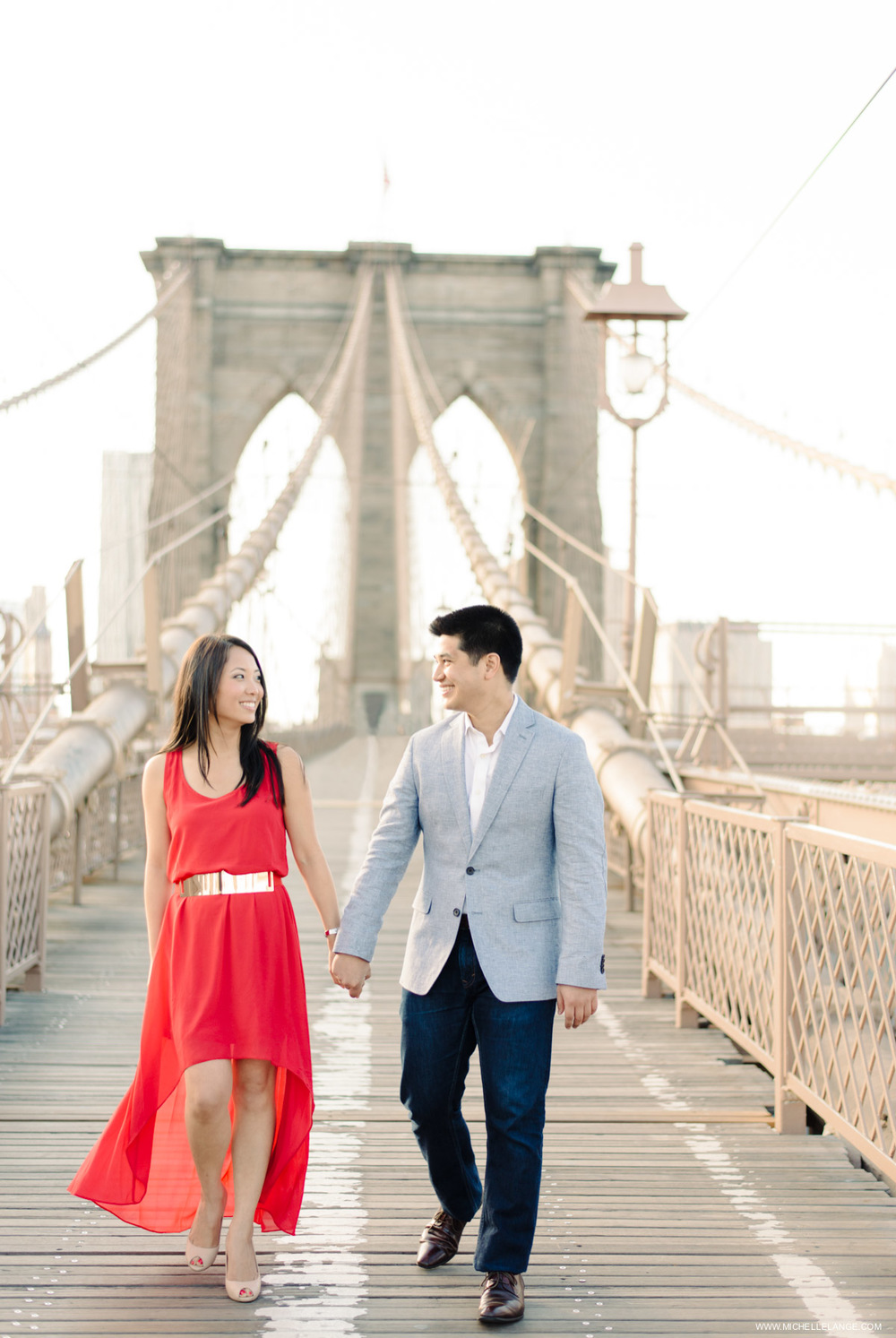 Brooklyn Bridge New York City Engagement Photographer