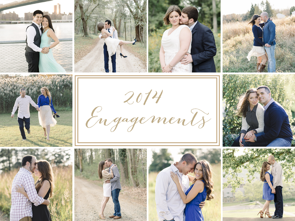 2014 engagement photographer recap by New Jersey and New York engagement photographer, Michelle Lange.