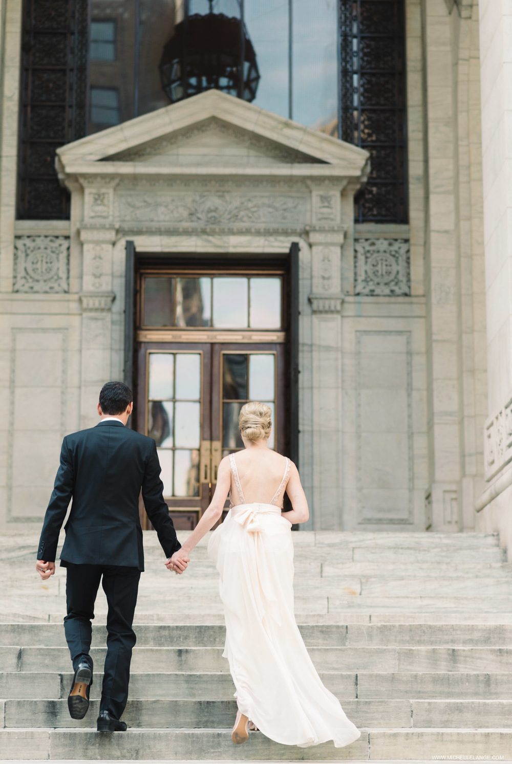 New York City New York Public Library Wedding