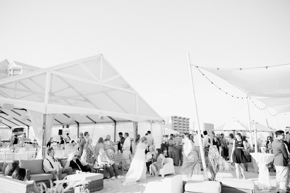 NJ Wedding Photographer at Hotel Icona in Cape May with Beach Cocktail Hour