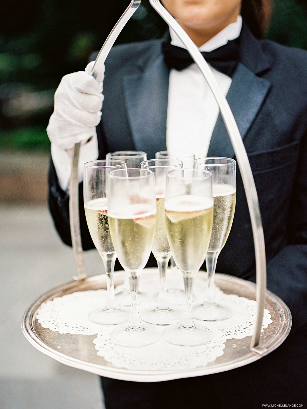 NY Wedding Photographer with Champagne