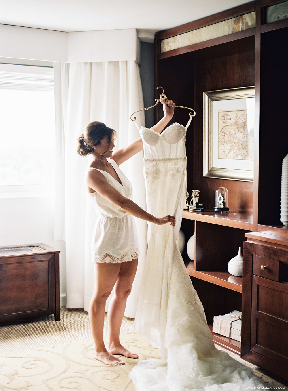NY Wedding Photographer with Inbal Dror Dress