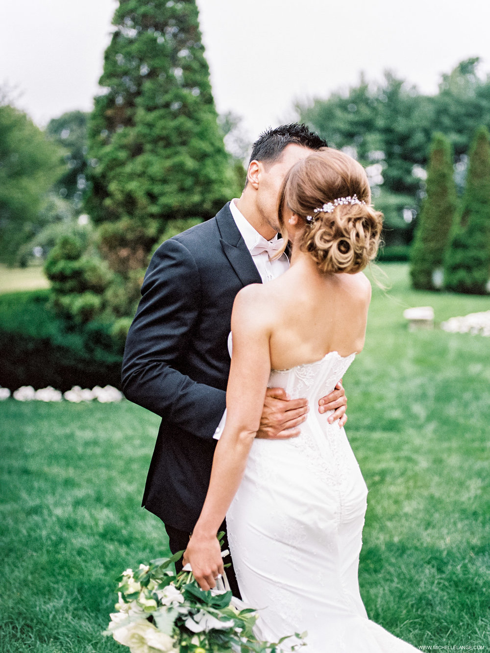 NY Wedding Photographer with Inbal Dror Wedding Gown