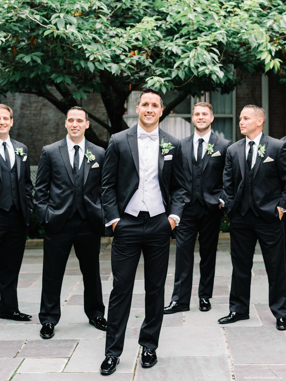 NY Wedding Photographer with Groomsmen at The Carltun