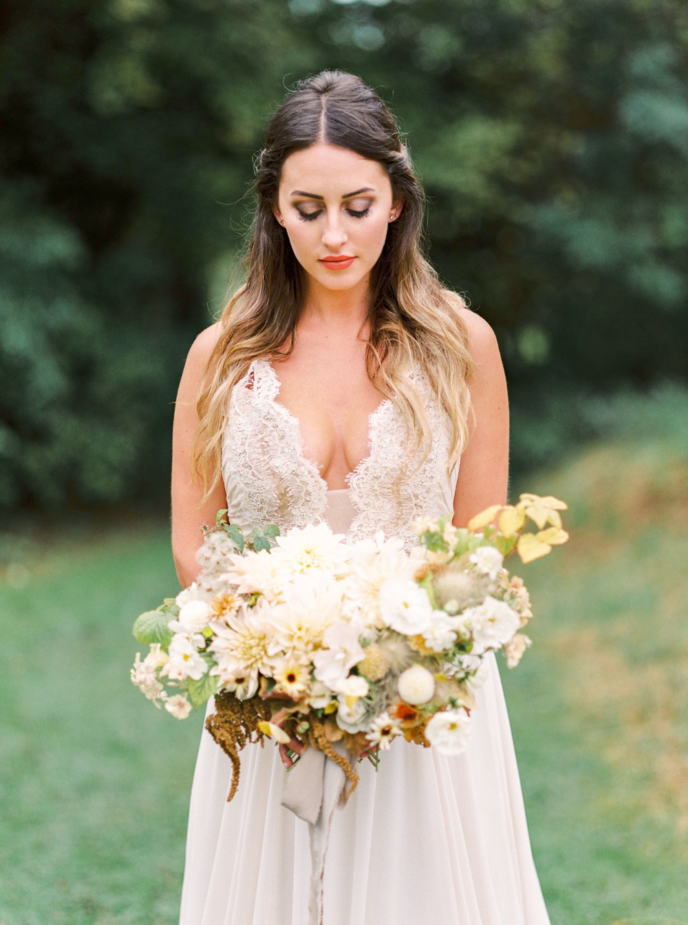 Gorgeous Organic Bouquet by Fleuropean photographed by NJ and NYC Wedding Photographer