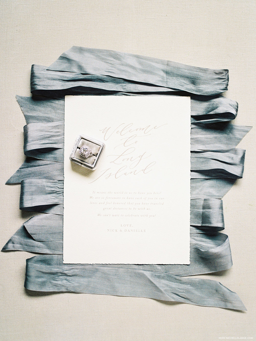 NY Wedding Photographer at The Carltun in East Meadow, NY with Linen and Leaf Calligraphy
