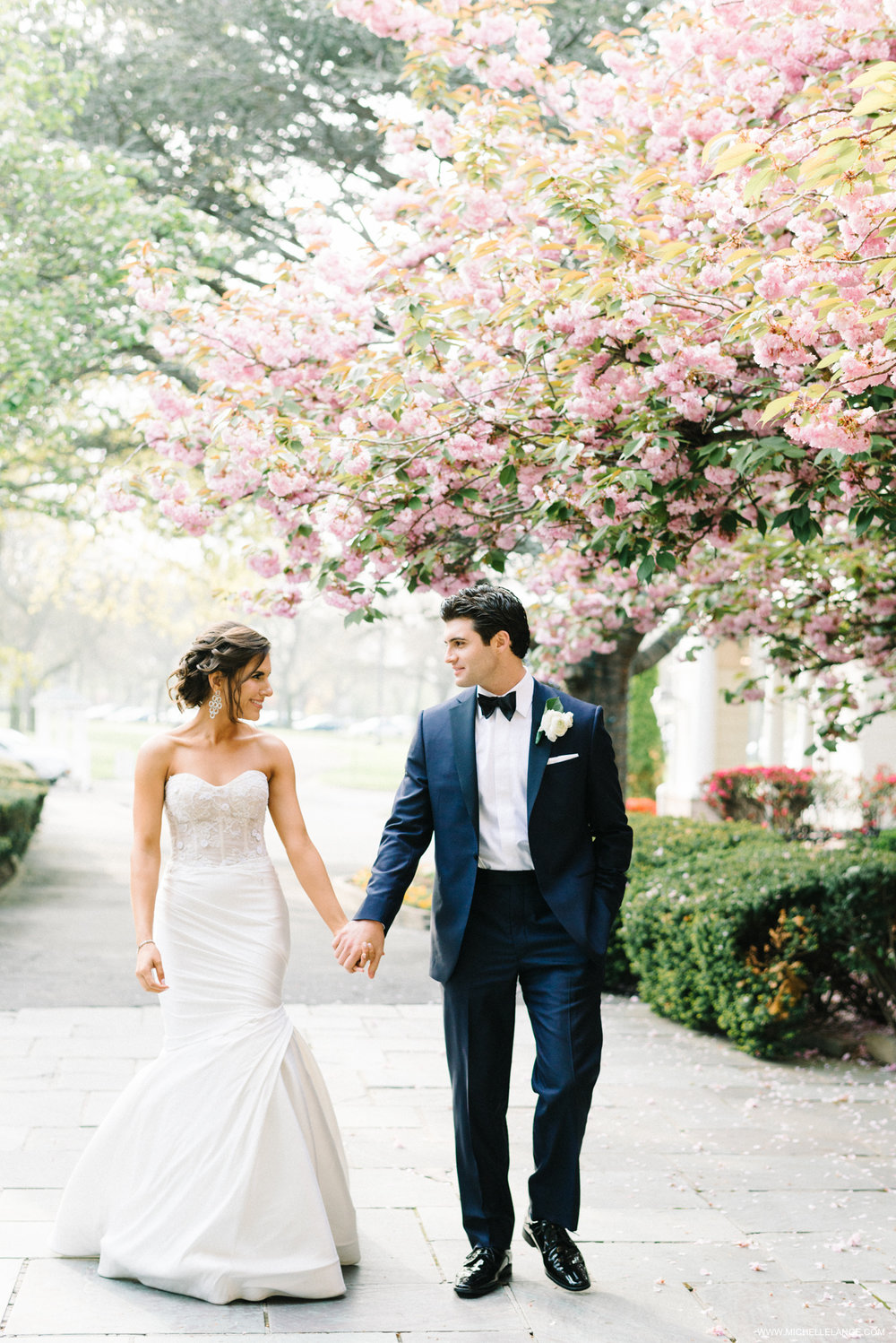 NY Wedding Photographer with Cherry Blossoms