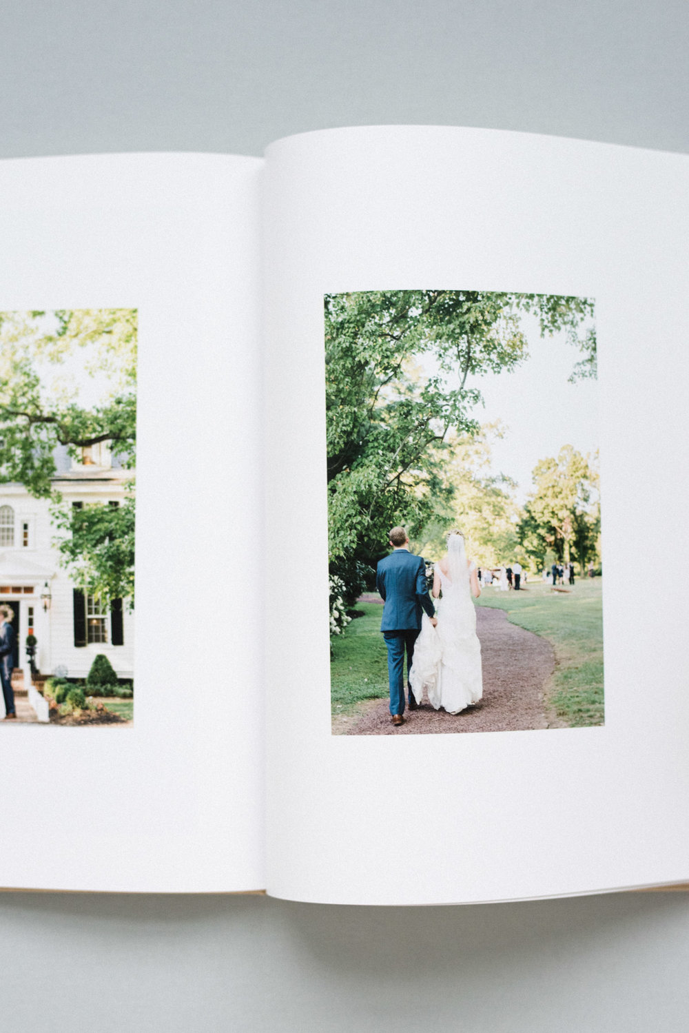 NJ Wedding Photographer Fine Art Linen Wedding Book with Magazine Style Pages
