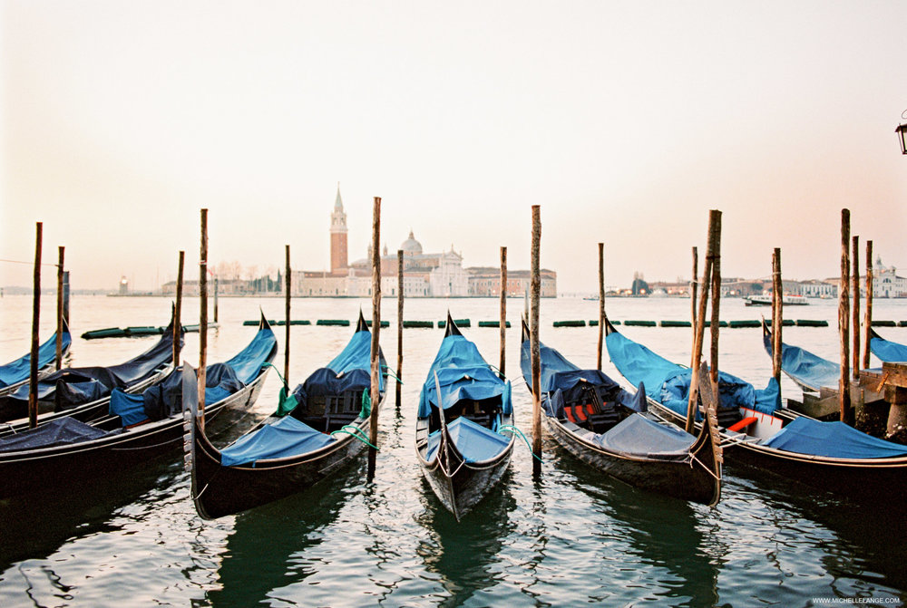 Venice Travel Photography - Early Morning Gondolas