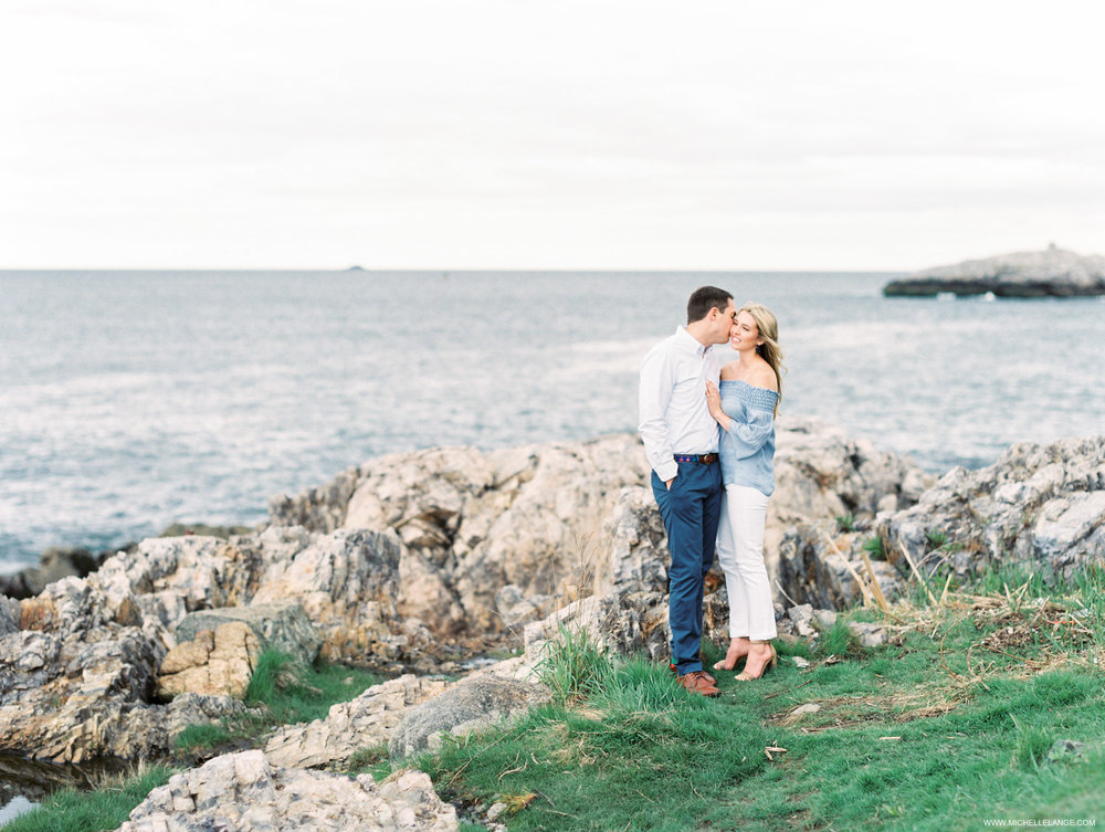 Brianna and Patrick's engagement session North of Boston in Marblehead and Salem, MA
