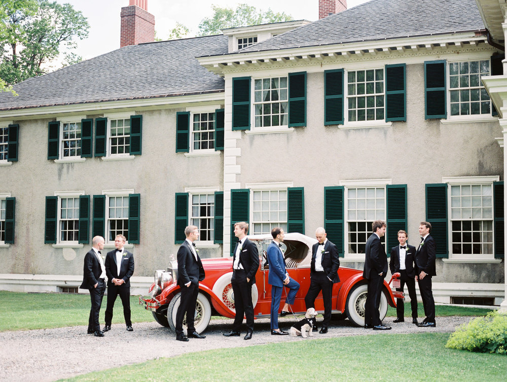 Manchester Vermont Wedding Groomsmen Portrait