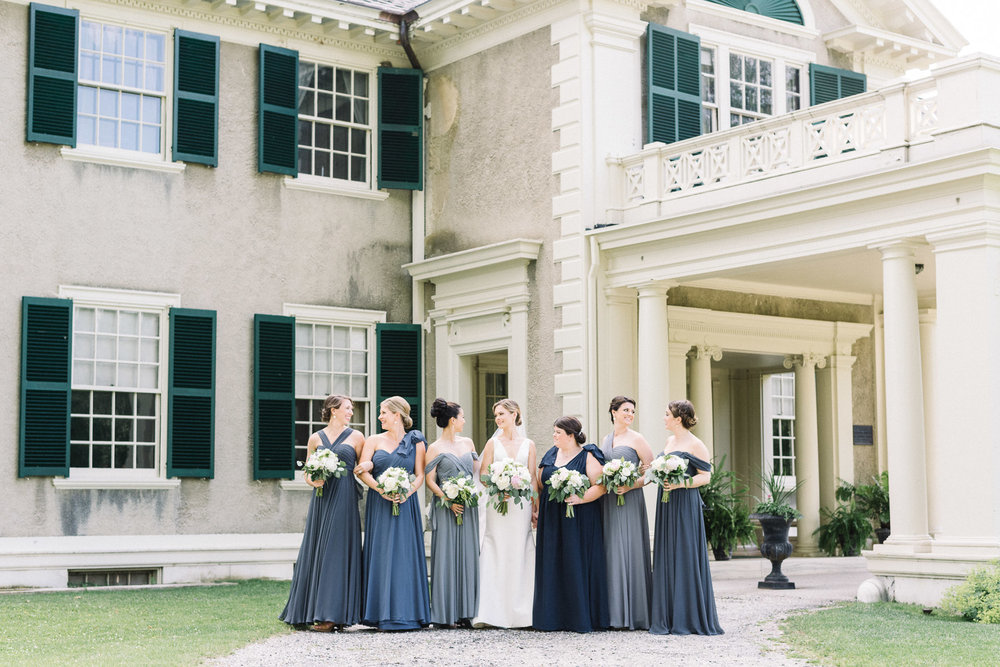 Manchester Vermont Wedding Lincoln Family Home Bridesmaids