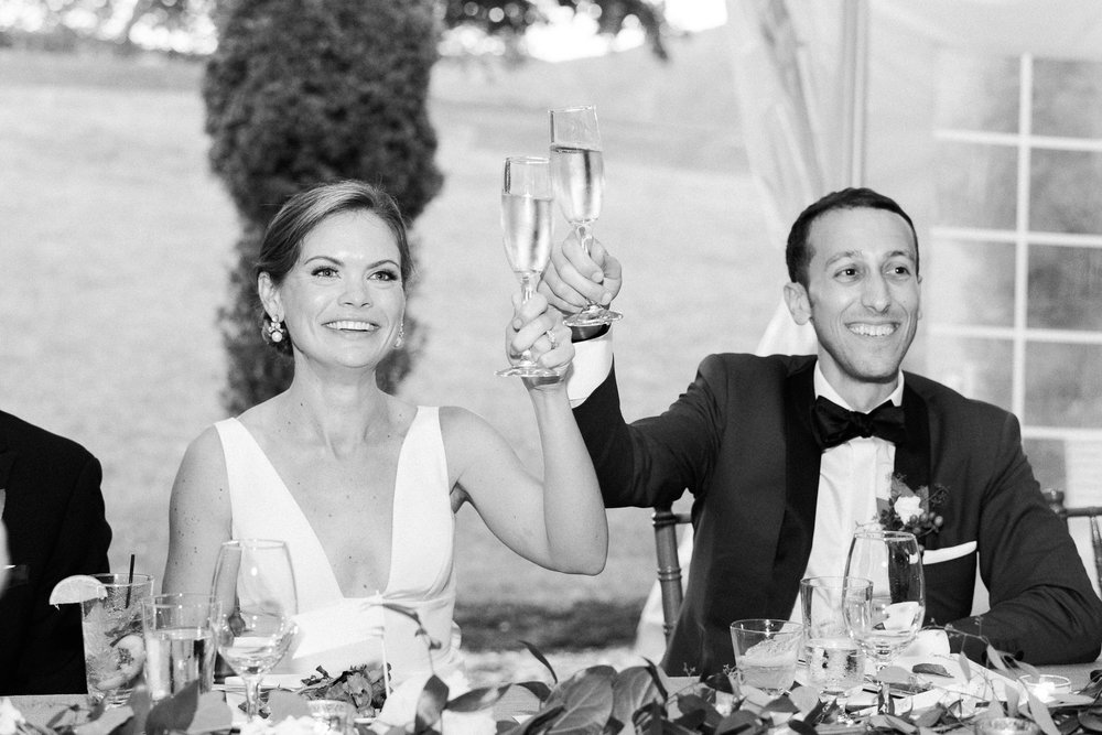 Manchester Vermont Wedding Bride and Groom Wedding Toast