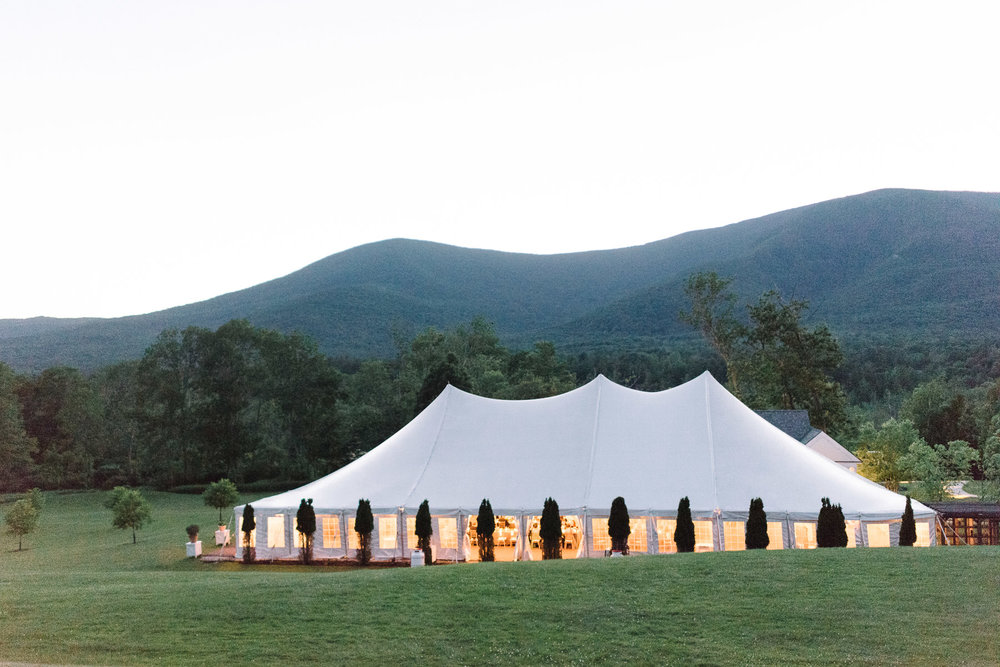 Manchester Vermont Wedding Hildene Estate Reception Tent