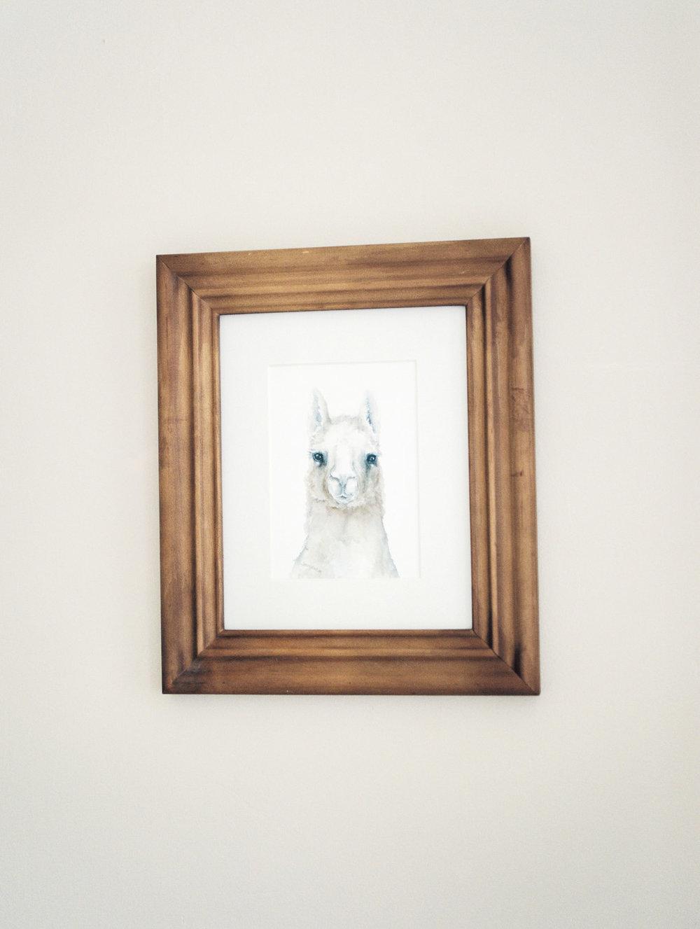 Lama Framed Print in Nursery