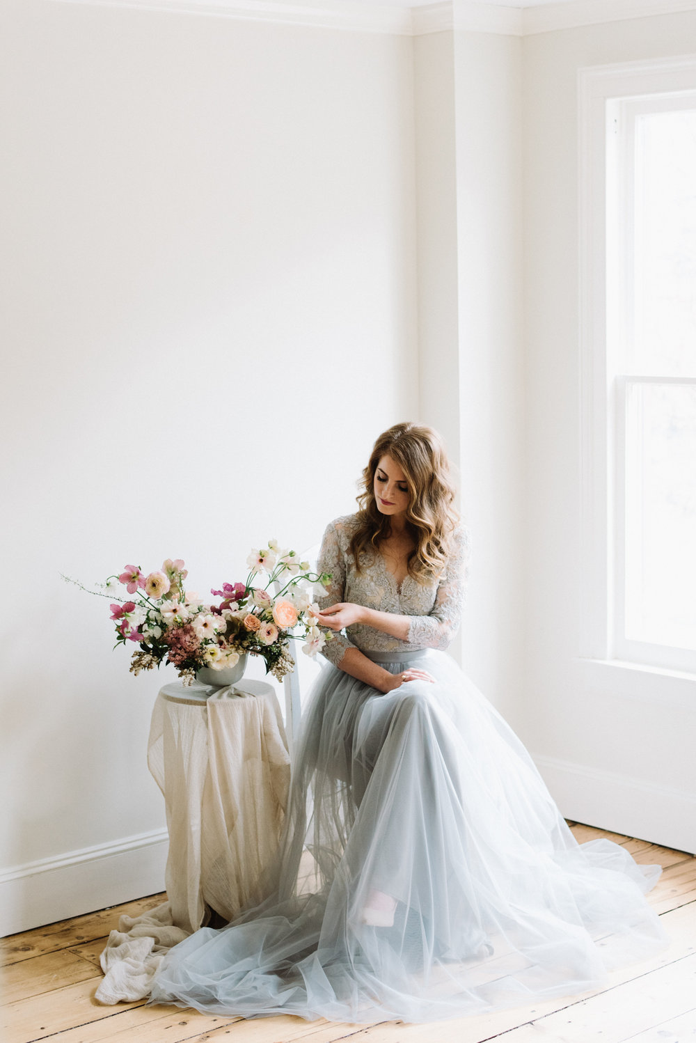 Alexandra Grecco blue wedding gown
