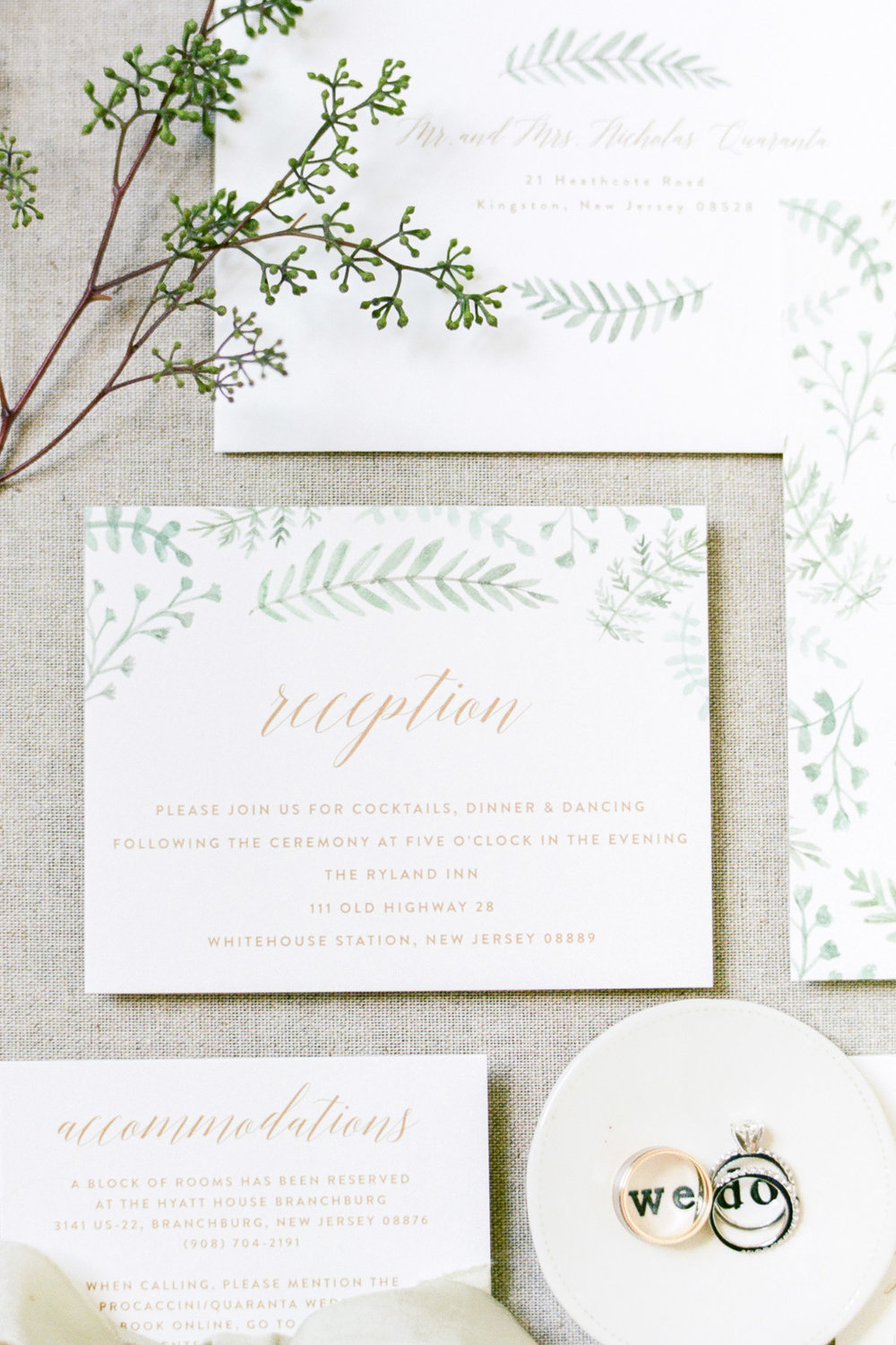 Minted.com wedding invitation suite