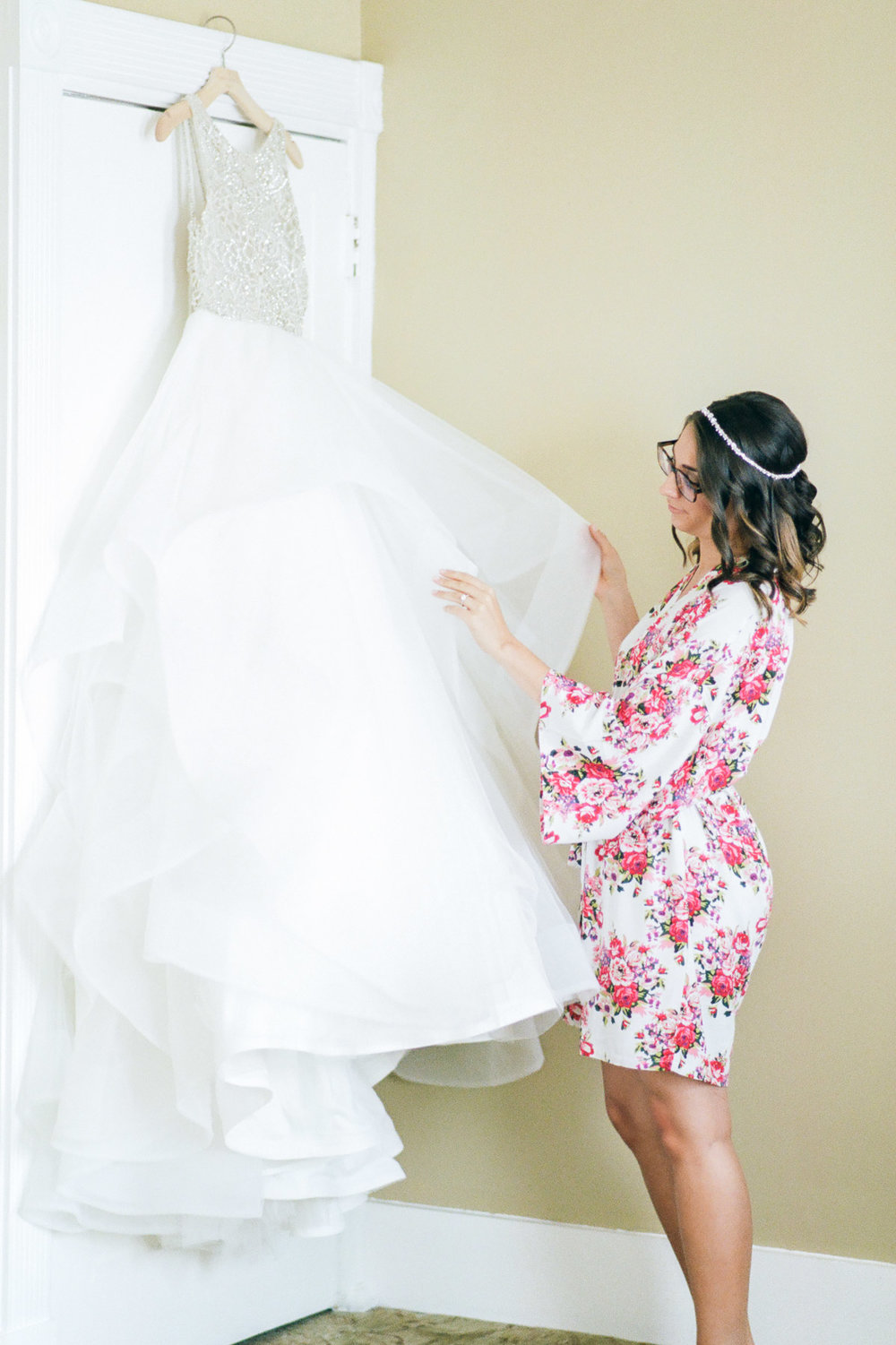 Bride and Hayley Paige Wedding Gown