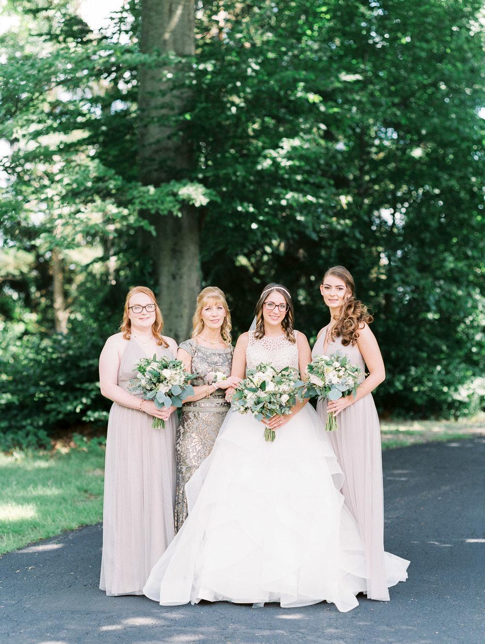 Bridesmaids wearing Amsale