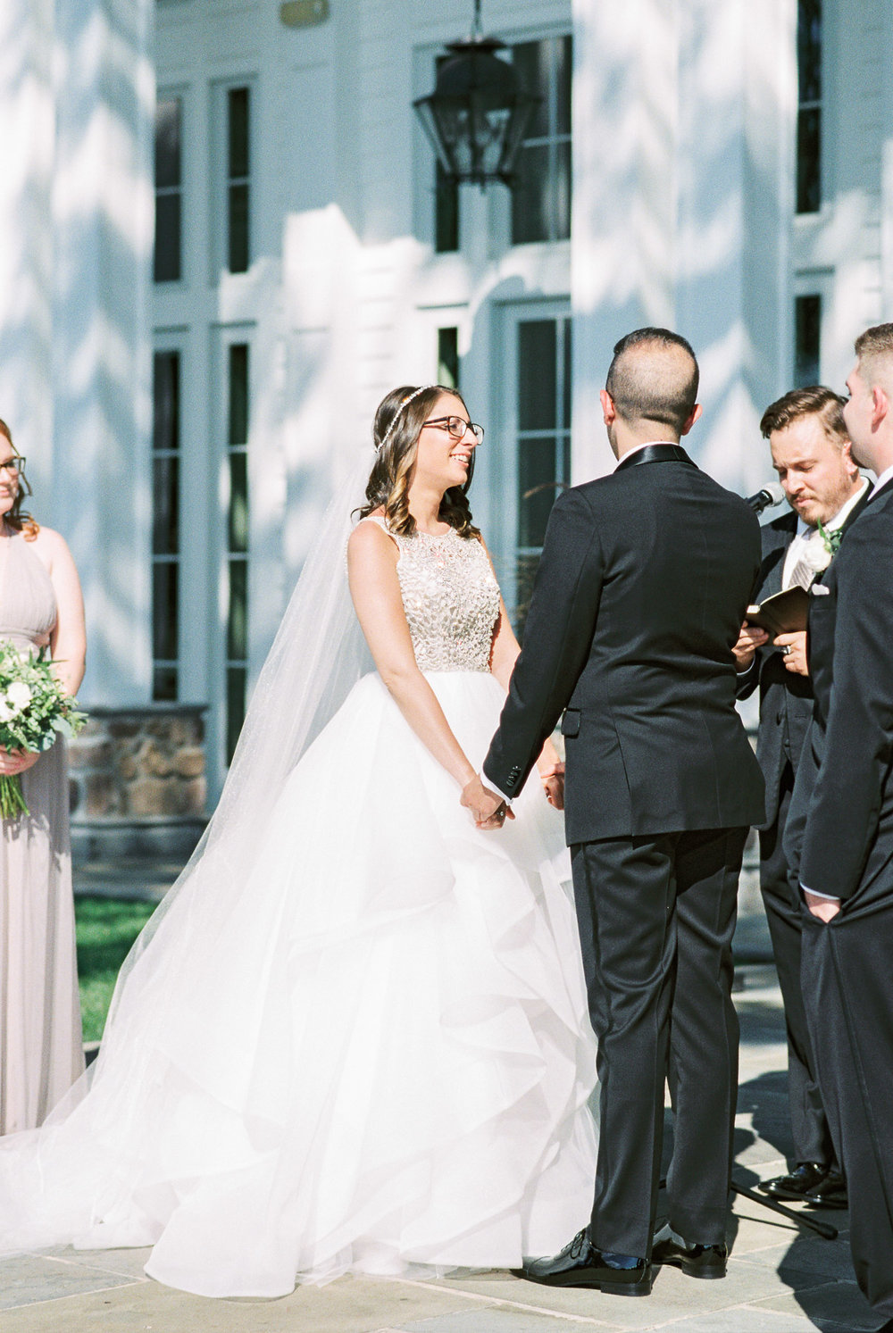 Outdoor ceremony at The Ryland Inn