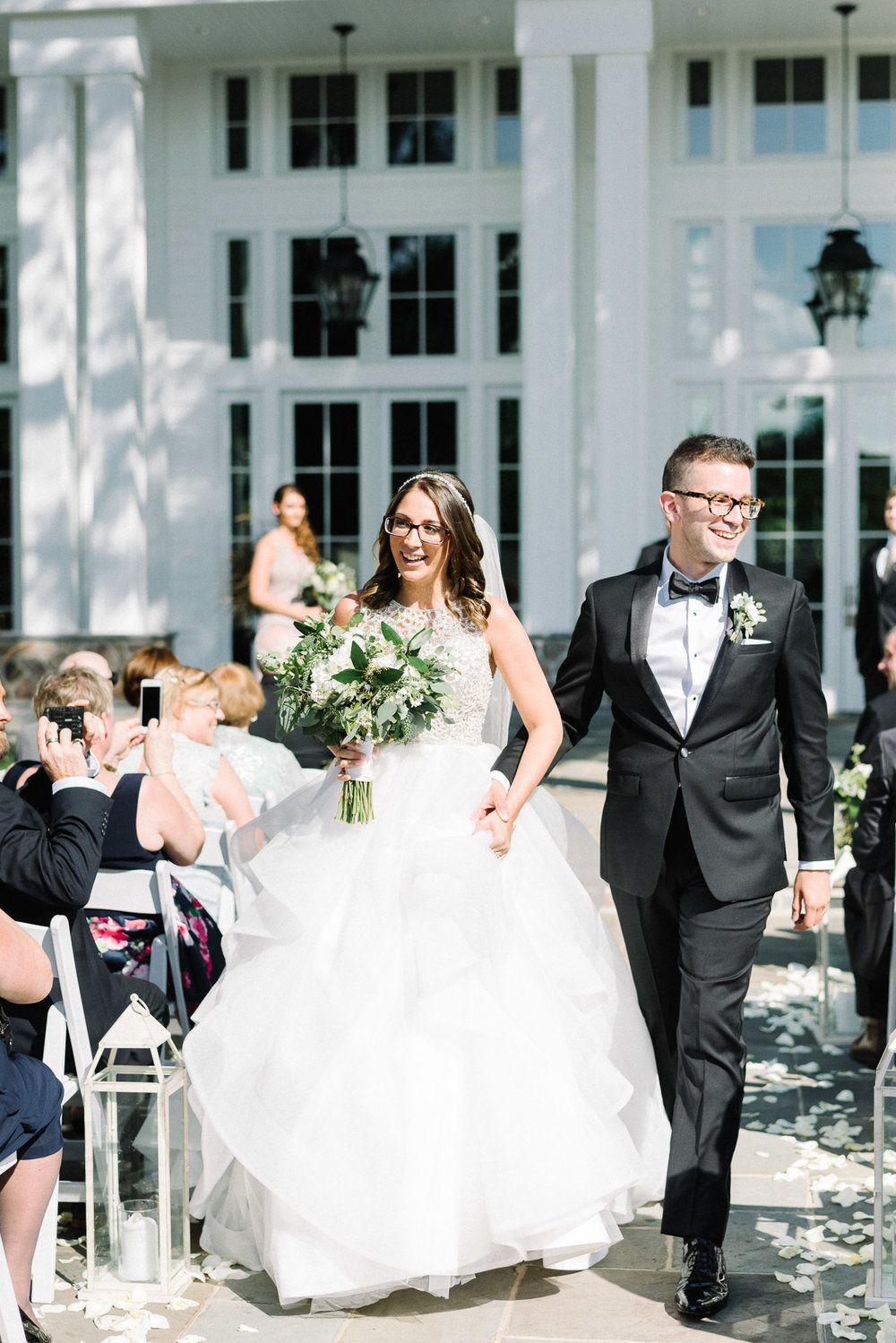 Outdoor wedding at The Ryland Inn
