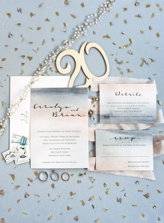 Modern Wedding Invitation Suite