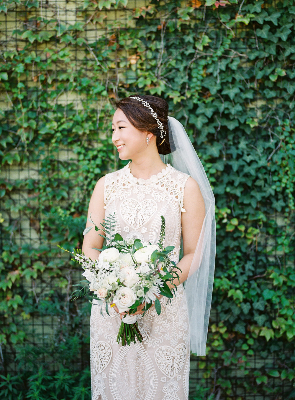 Bridal Portrait at The Green Building in Brooklyn