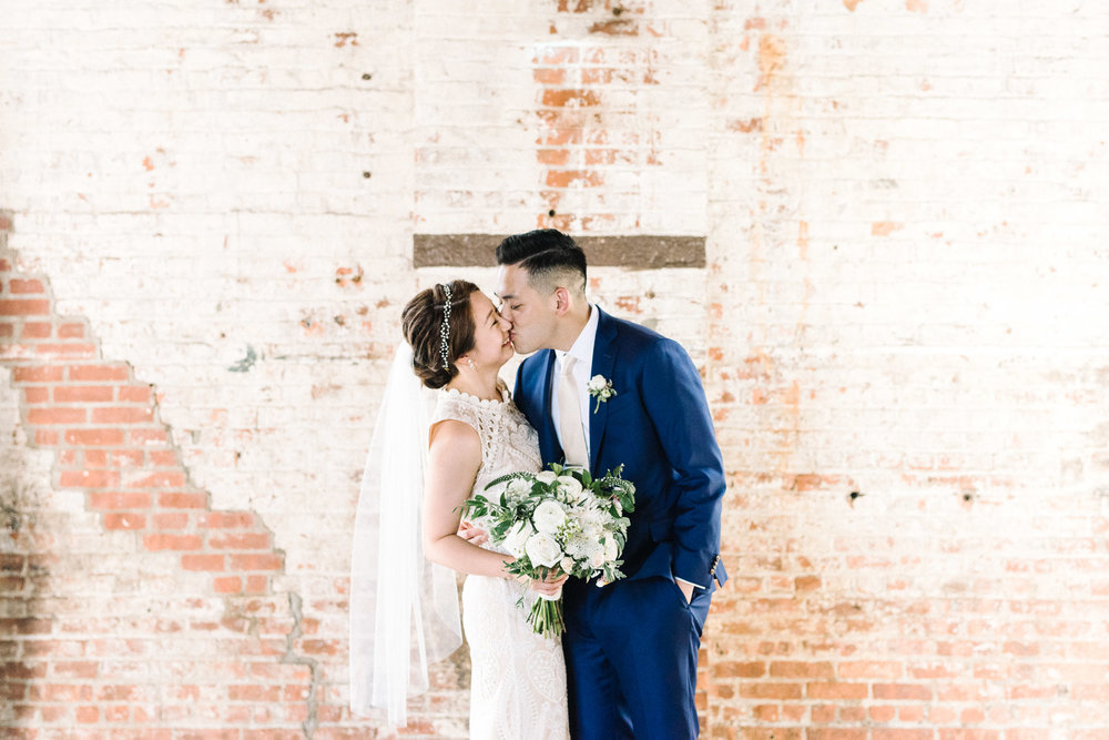Bride and Groom Portraits at The Green Building
