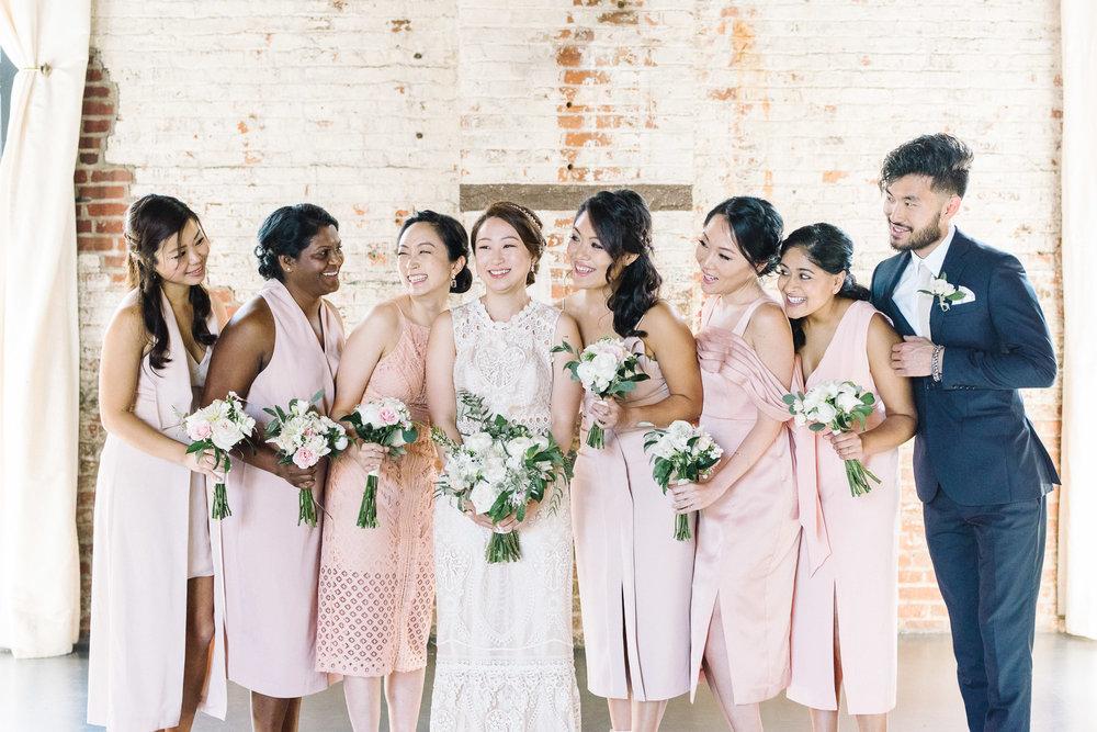 Bride with Bridesmaids and Bridesman