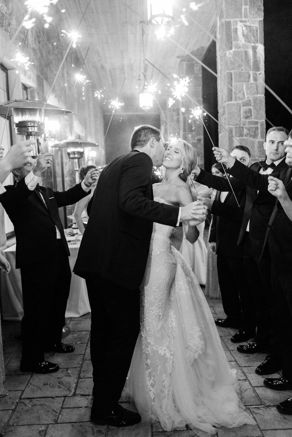 Sparklers at The Inn at Erlowest wedding reception in Lake George, NY