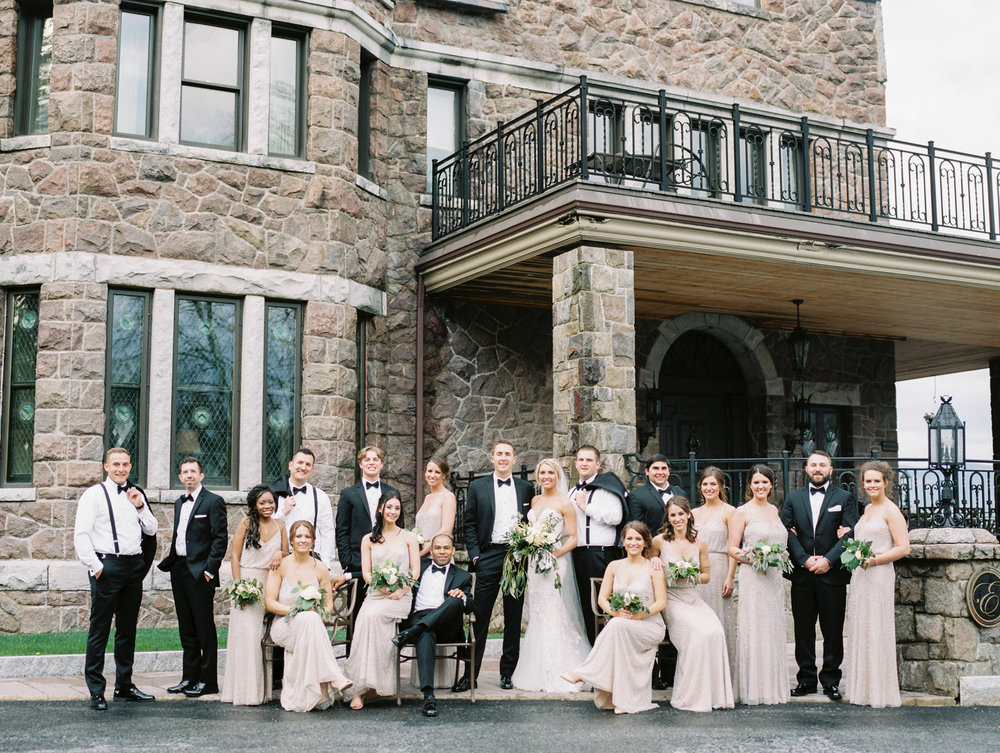 Wedding Party at Inn at Erlowest in Lake George, NY