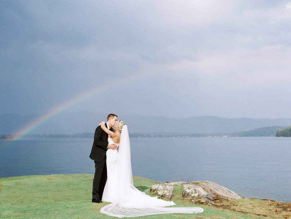 Rainbown at wedding in Lake George, NY