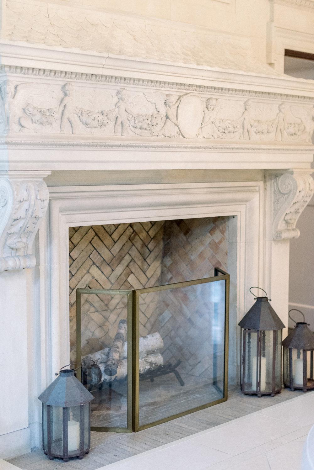 Entry Way Fireplace at Natirar