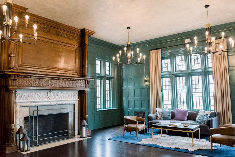 Emerald Room at Natirar Mansion in Gladstone, NJ