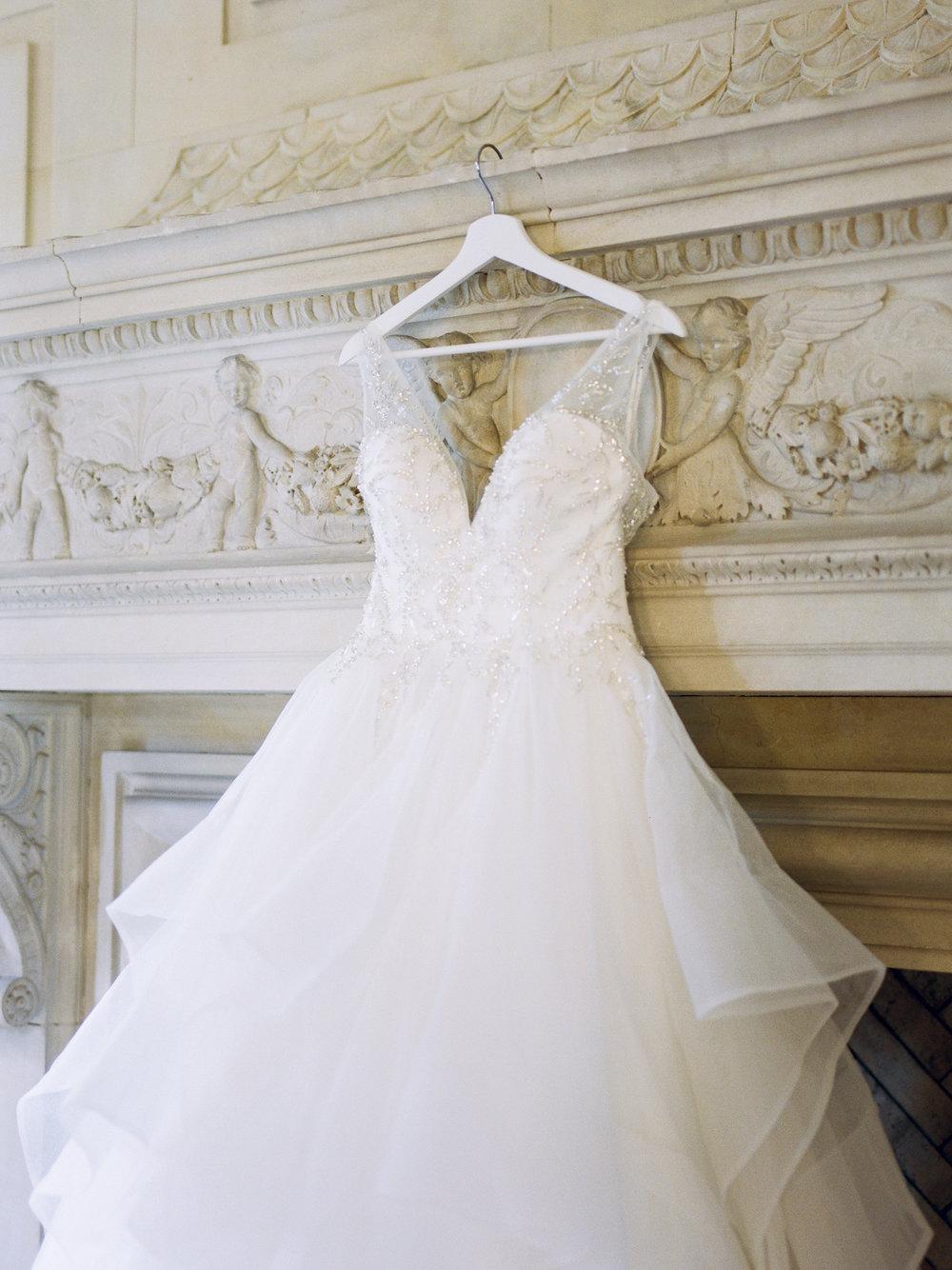 Wedding Gown at Natirar Mansion