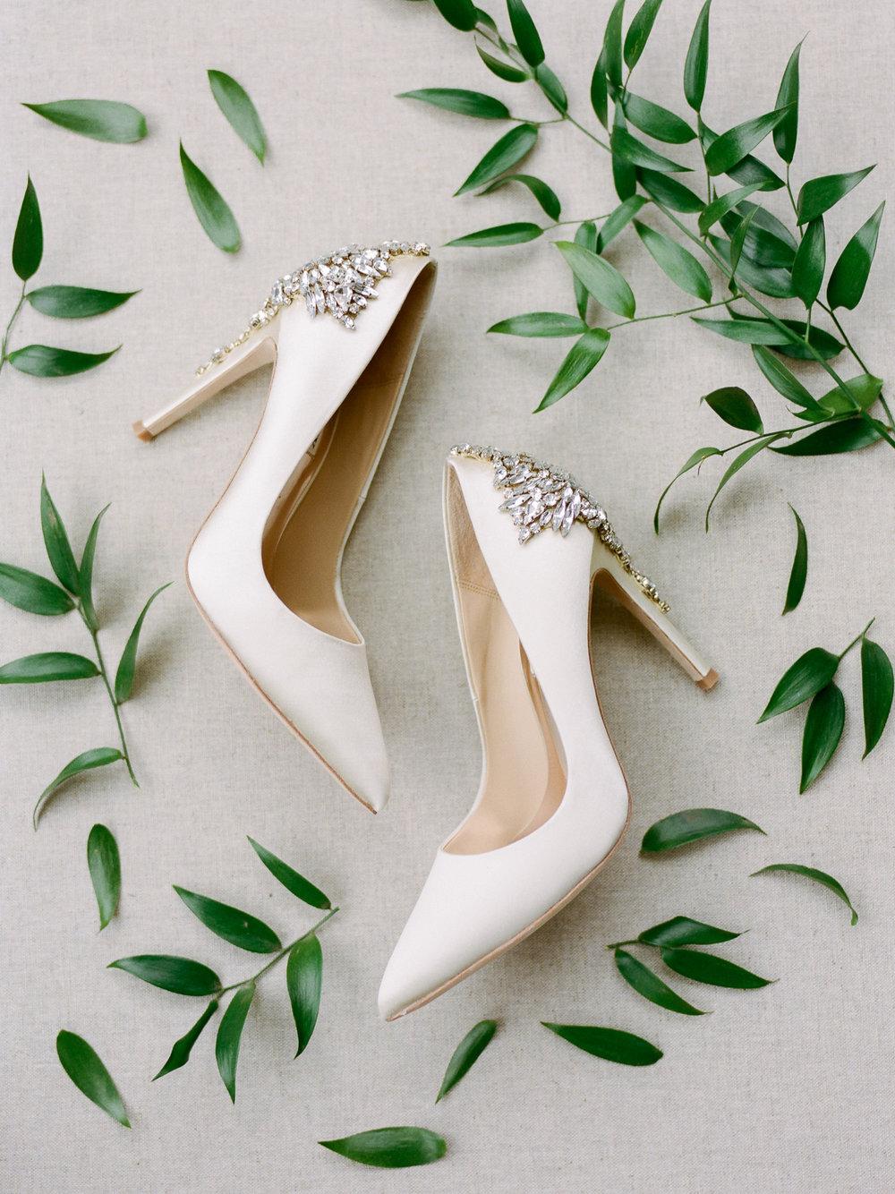 Badgley Mischka Wedding Shoes Crystals