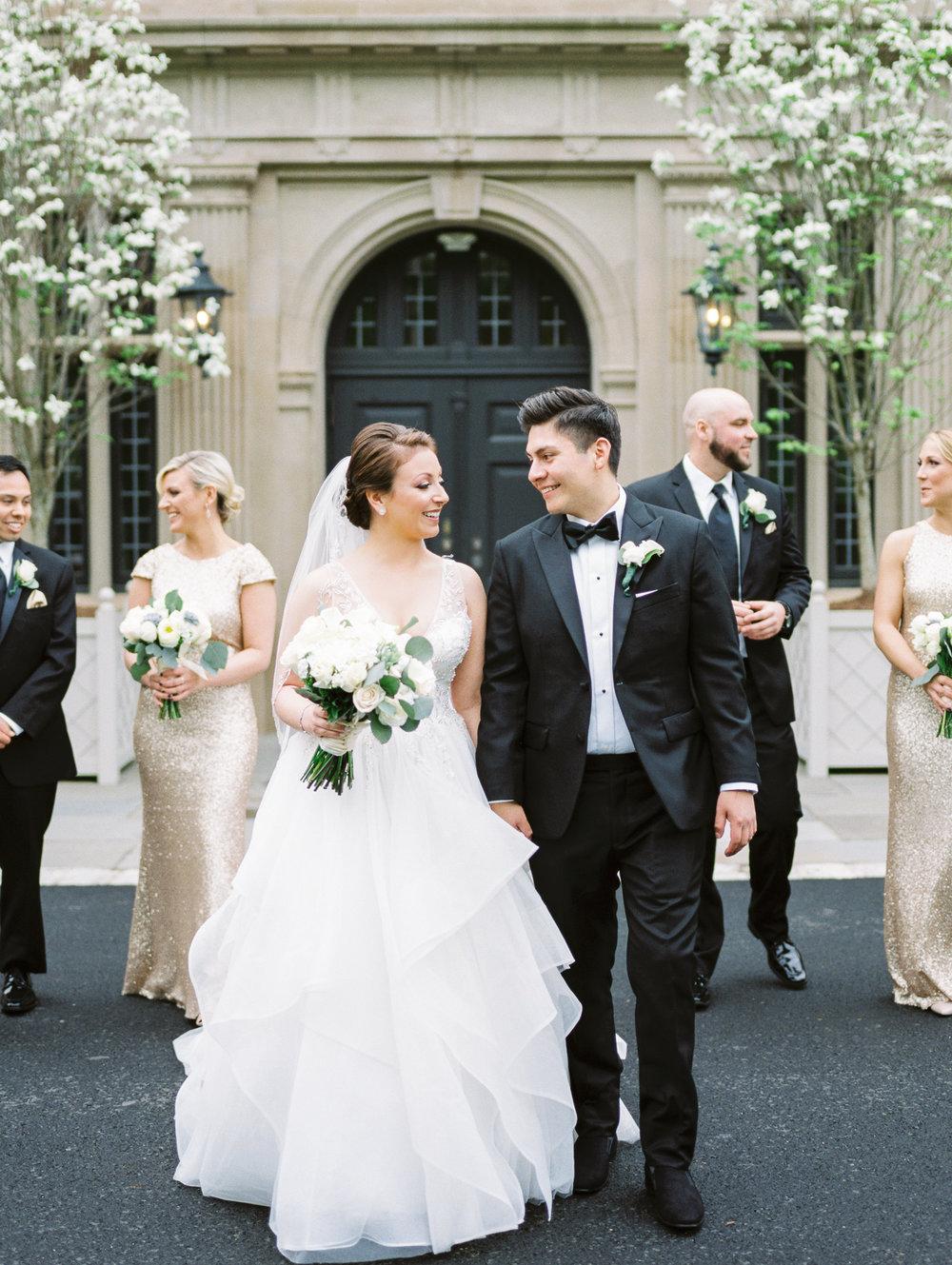 Bridal Party at Natirar Mansion in Gladstone, NJ