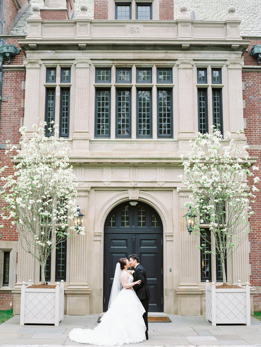 Bride and Groom Photo at Natirar in NJ