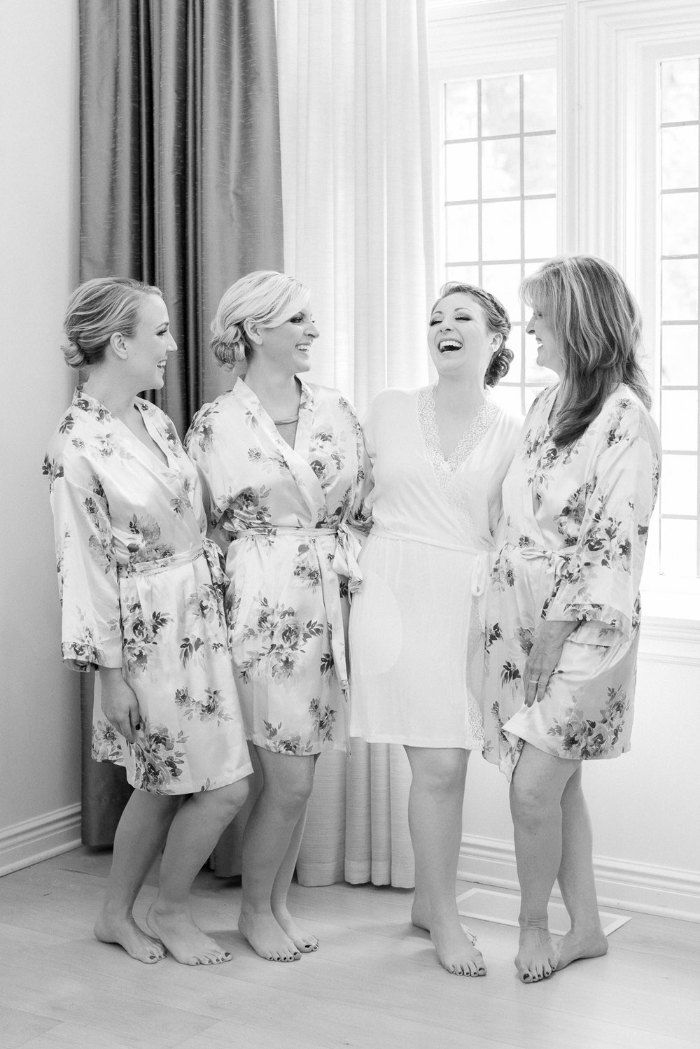 Bridesmaids Getting Ready Photo