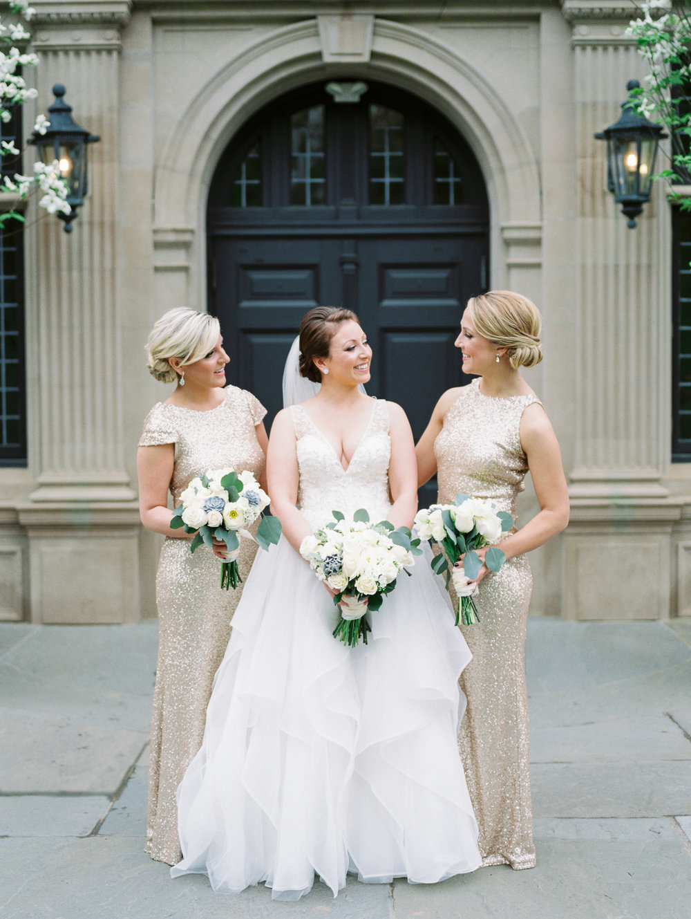 Bridal Party with Sequin Dresses
