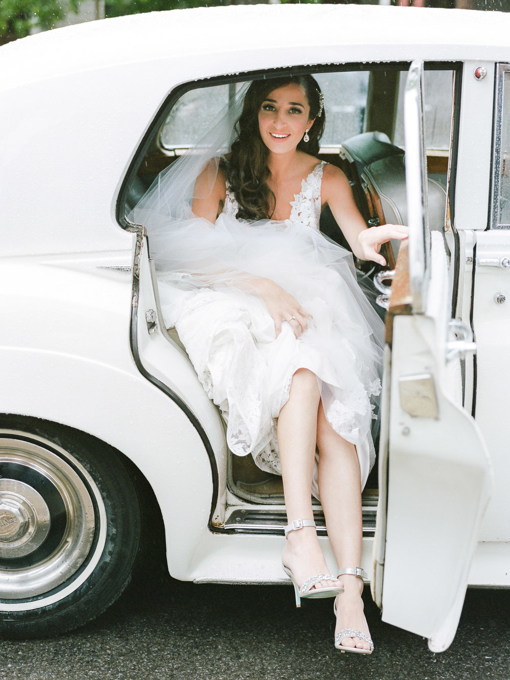 Bride Exiting Car
