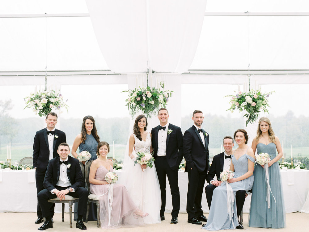 Indoor Vanity Fair Style Wedding Photo