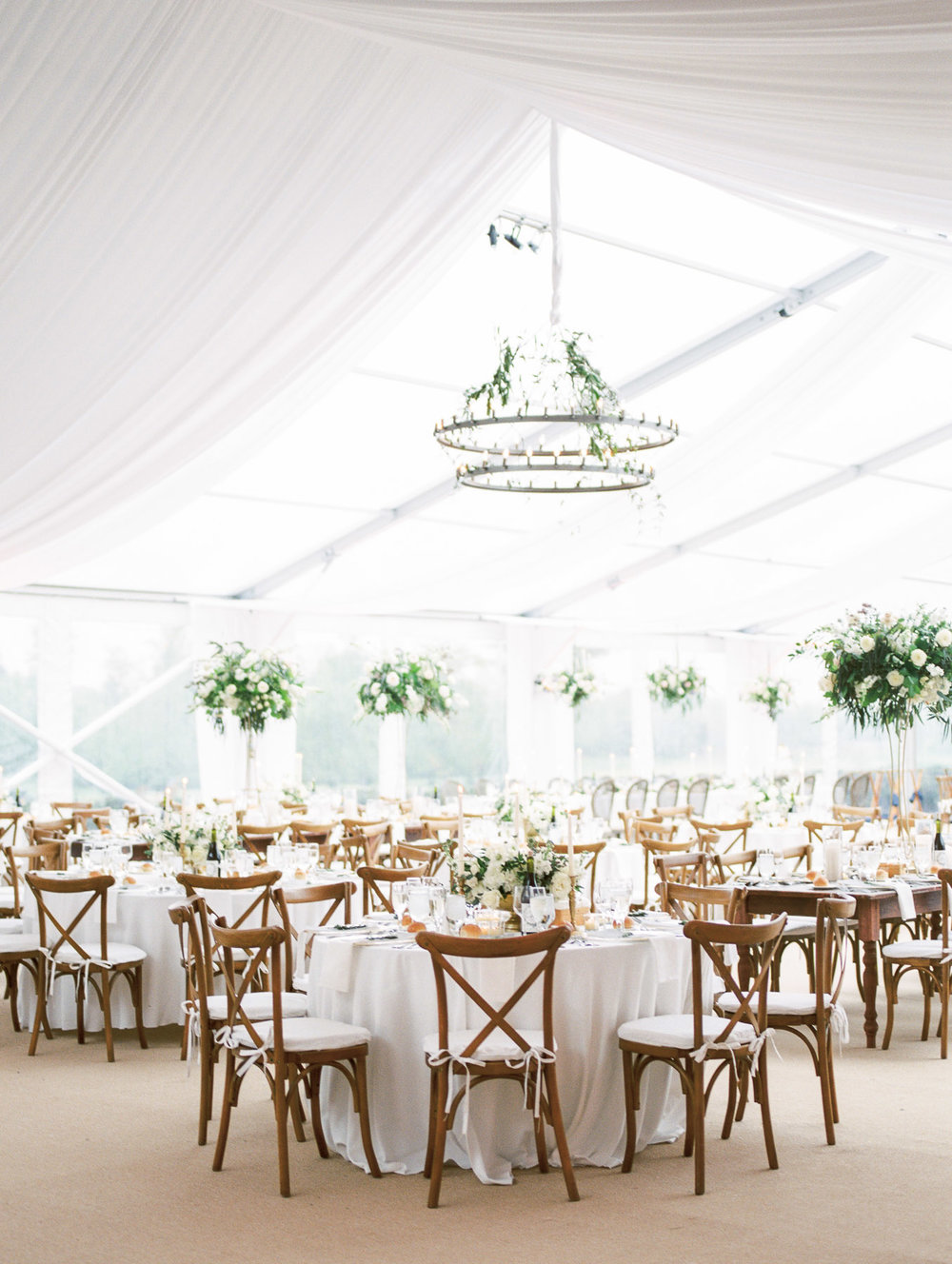 Tented Reception by Renaissance Floral Design