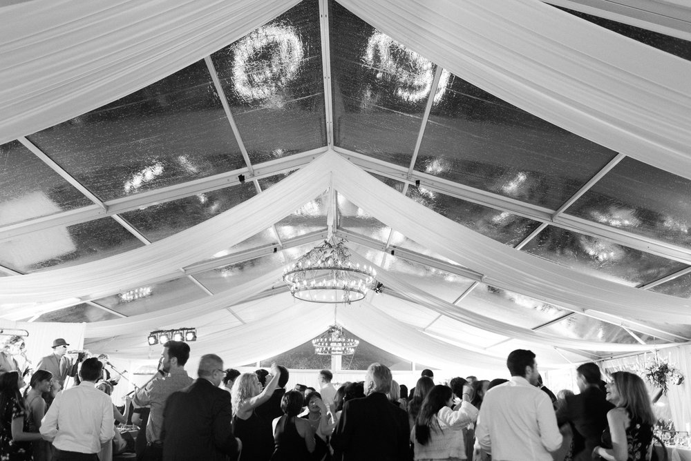 Clear Wedding Tent at Saratoga National