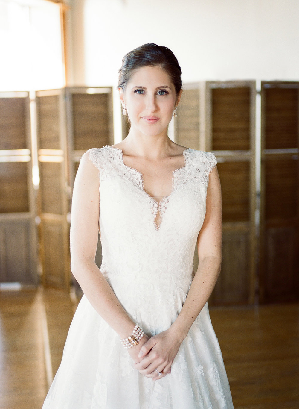 Classic Bridal Portrait in Liberty Warehouse
