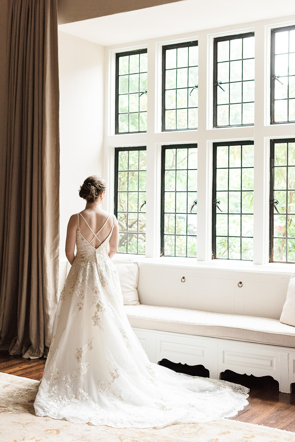 Beautiful Bridal Portrait at Tuxedo Club in NY