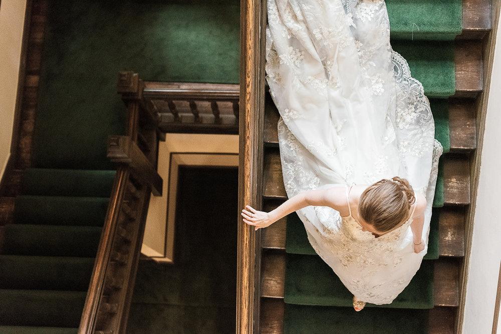 Bride Inside Tuxedo Club