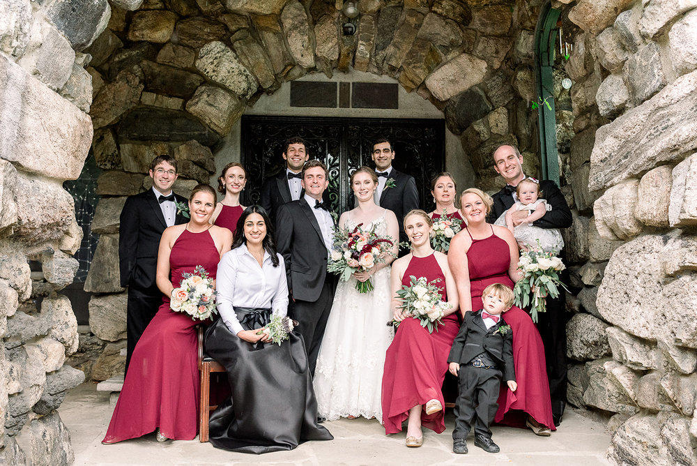 Bridal Party Portrait Rainy Day